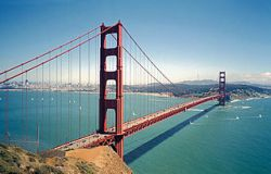 Golden Gate Bridge (from http://commons.wikimedia.org/wiki/File:Golden_gate2-2.jpg, © Aslak Raanes)